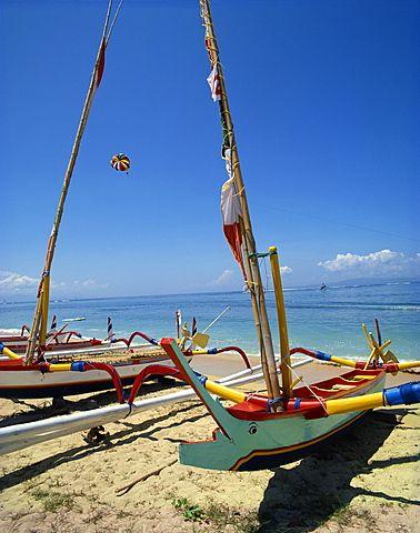 Playa de Sanur, Bali, Indonesia, el sudeste de Asia, Asia