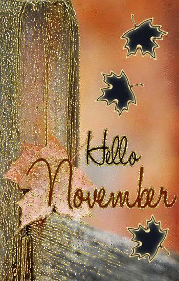 Gif ❦ Hello November ❦❦❦