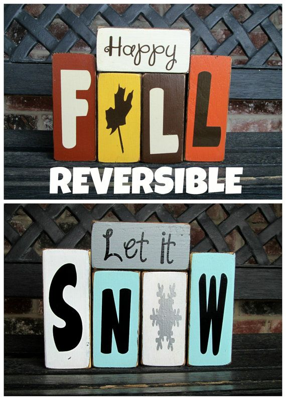Reversible blocks (the only way to go...save $ and space for storing, plus with back-to-back seasons no need to dig out decorations again, just turn them over)