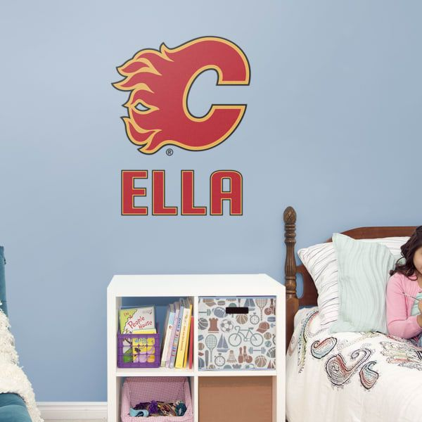 Boys Hockey Bedroom Wall Decals Are The Calgary Flames Your Favorite Team Pick Your Favorite Nhl Team Today Fathead Co Logo Wall Wall Decals Calgary Flames