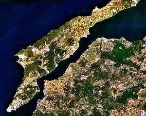 Landsat-Bild der Dardanellen
