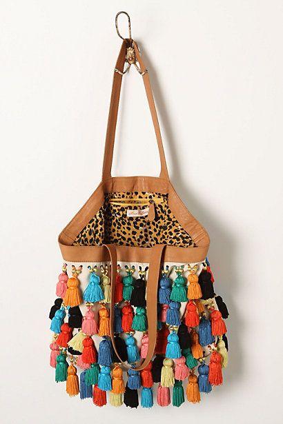 // tassels on handbag