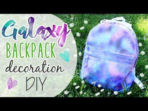 Galaxy Backpack decoration - Zaino effetto Galaxy ft. ART TV by Fantasvale!