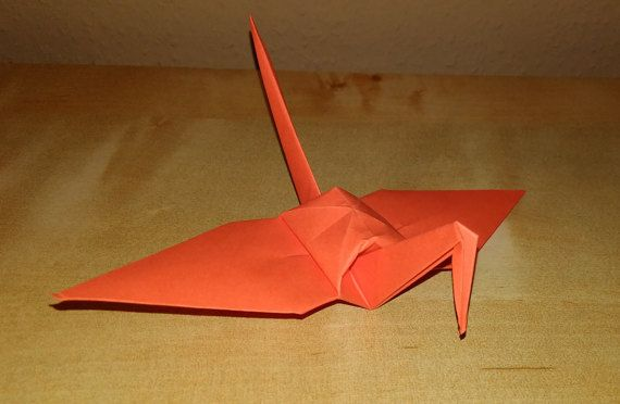 100 origami crane dark orange crane wedding by Handmadegiftbox