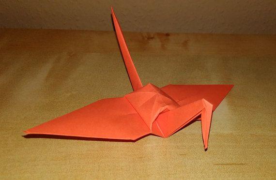 100 origami crane dark orange crane wedding by Handmadegiftbox
