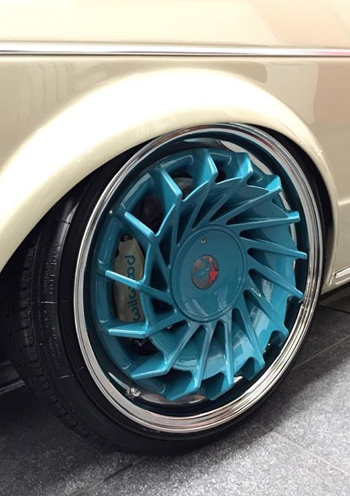 Custom made 3 piece wheel - you design it and B-Star (https://www.facebook.com/bstarwheels) will make it. These wheels are on the show winning JH Pro Paint mark one Golf R32.