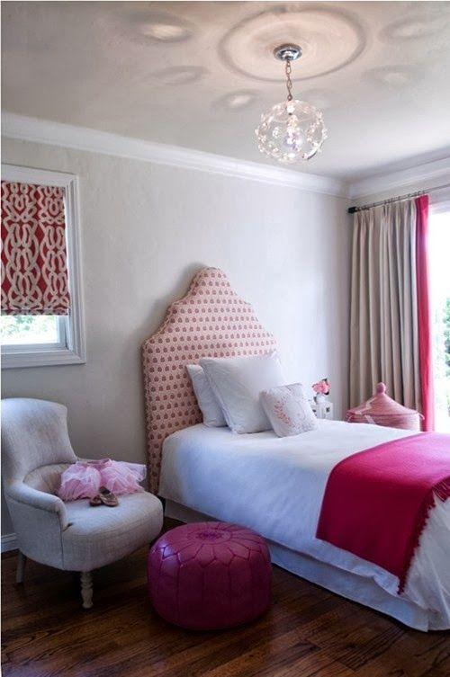 pink bedroom vt interiors for MRM.