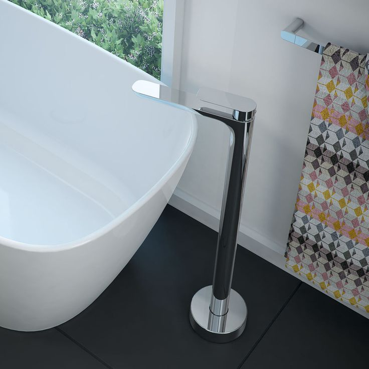 Caroma Contura freestanding bath mixer.  #freestanding #bathmixer #mixertap #tapware #tap #bathroom #bathroominspo