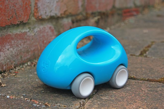 Kid-O 'Go Car' from Toyella, made from 100% recycled plastic, as featured on Bobby Rabbit