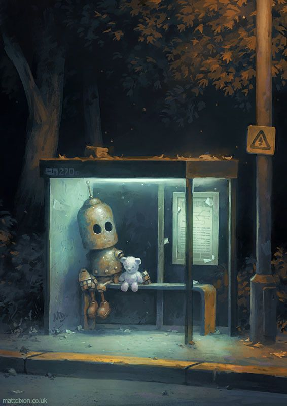Cover art for my new collection of robot artwork, Transmissions 2. Available now from mattdixon.co.uk