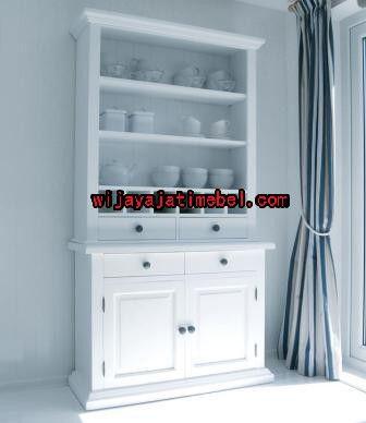 Lemari Pajangan Minimalis Putih Duco | Murah | Furniture | Wijaya Jati Mebel