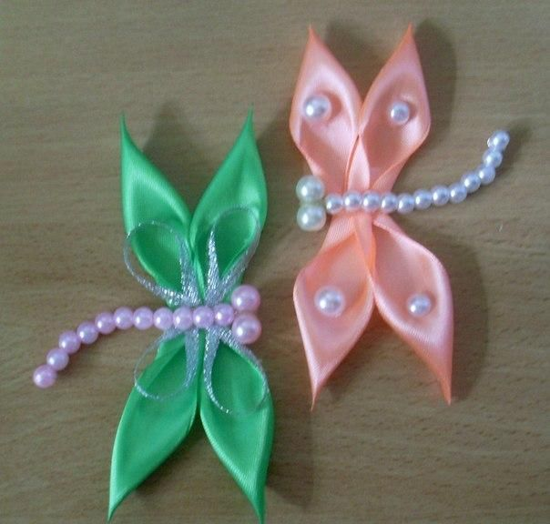 DIY Tutorial: DIY Ribbon Crafts / DIY Kanzashi Satin Ribbon Dragonfly - Bead&Cord