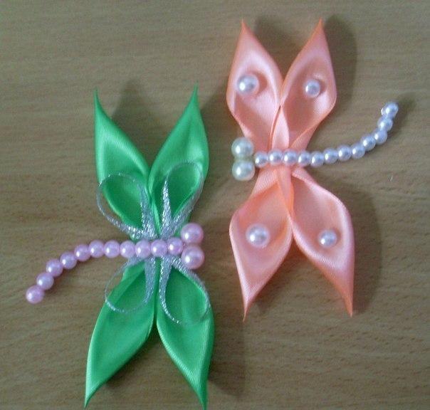 DIY Ribbon Crafts : DIY Kanzashi Satin Ribbon Dragonfly