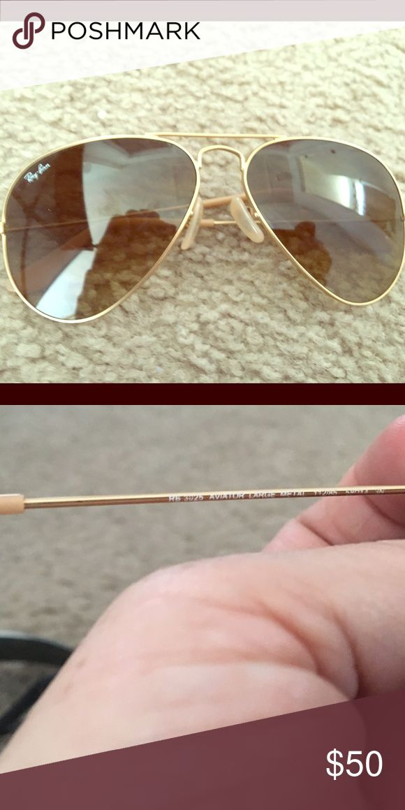 Ray ban women's aviators Ray Bans women's aviators gold authentic used but great condition. Very light in weight. No case Other