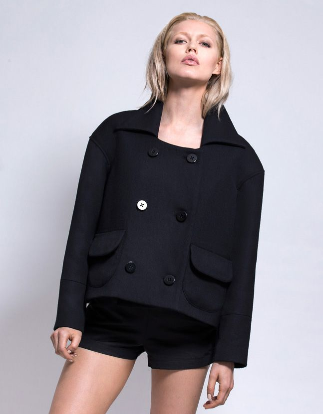 The Audrey - double breasted wool jacket