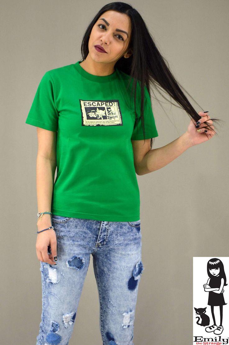 Γυναικείο t-shirt Emily Strange Escaped MPLU-0829-Kgn | T-shirts