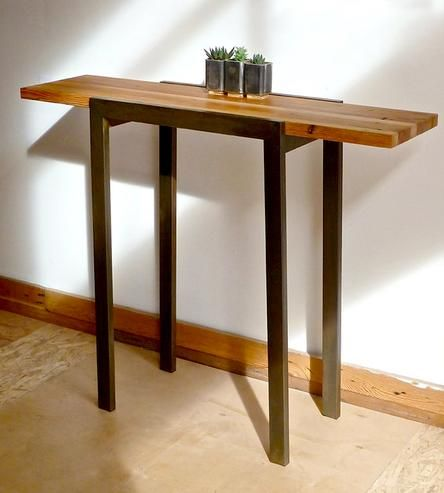 Reclaimed Wood Industrial Entry Table | Home Furniture | DangerMade | Scoutmob Shoppe | Product Detail