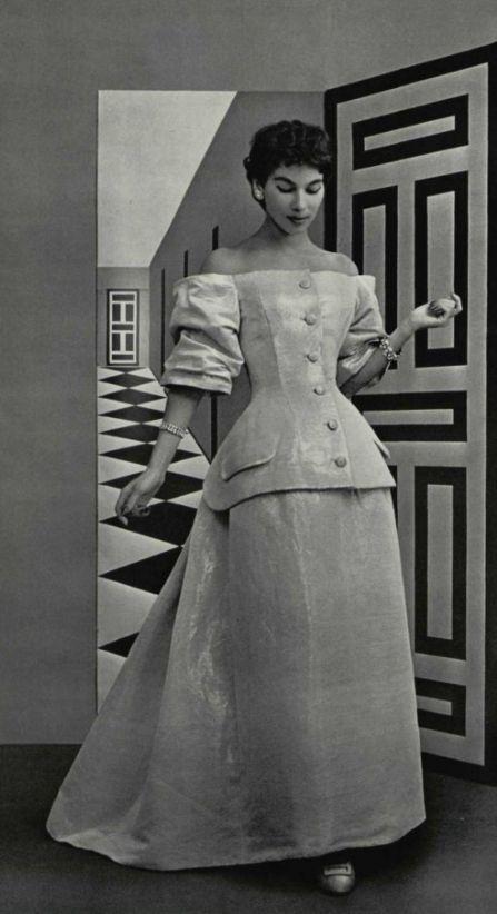 1954 Christian Dior Ensemble Vintage Fashion 1950s