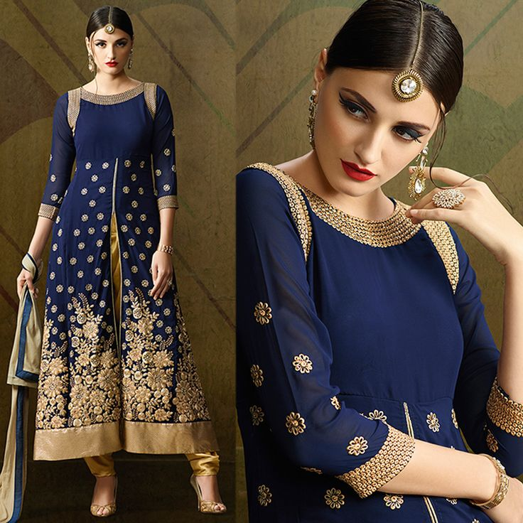 Salwar Kameez: With Beige Dupatta. Perfect For Party Wear