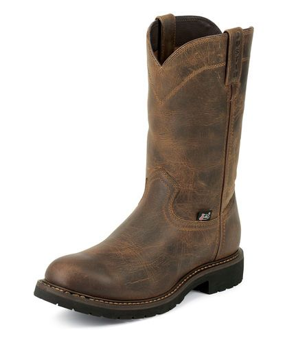 "Men's Rugged Utah 10"" Round Steel Toe Boot"