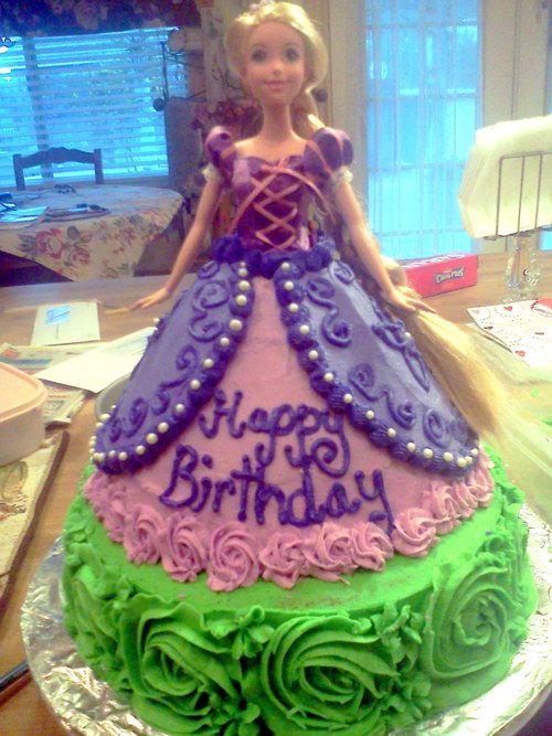 rapunzel cakeCake Cupcakes Decor, Bday, Cakes Cupcakes, Cake Ideas, Rapunzel Cake, Barbie Cake, Criss Cross, Cake Toppers, Birthday Ideas