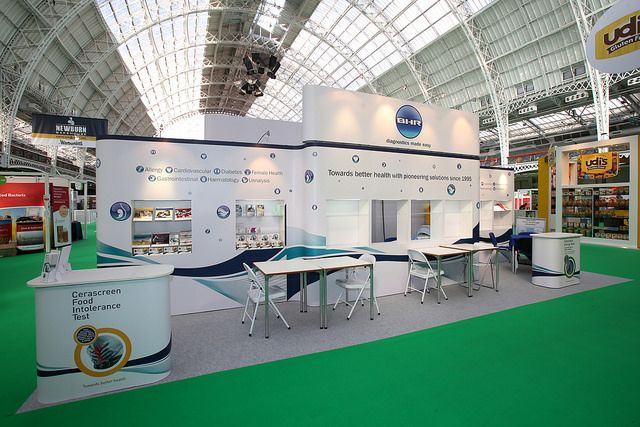 Modular Exhibition Stand for BHR Healthcare. Contact us http://www.expodisplayservice.ae/contactus.asp