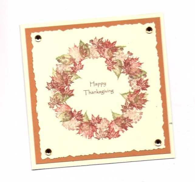 Happy Thanksgiving : Rubber Stamp Tapestry