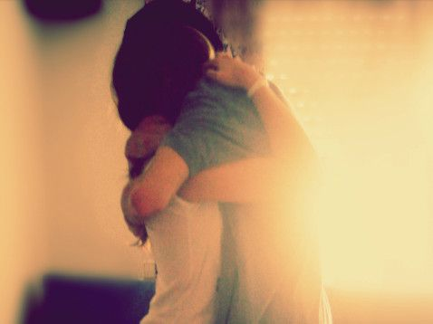 long, tight hugs