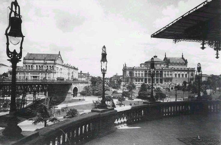 Vista- construção do Viaduto do Chá