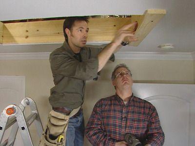 Installing attic ladder