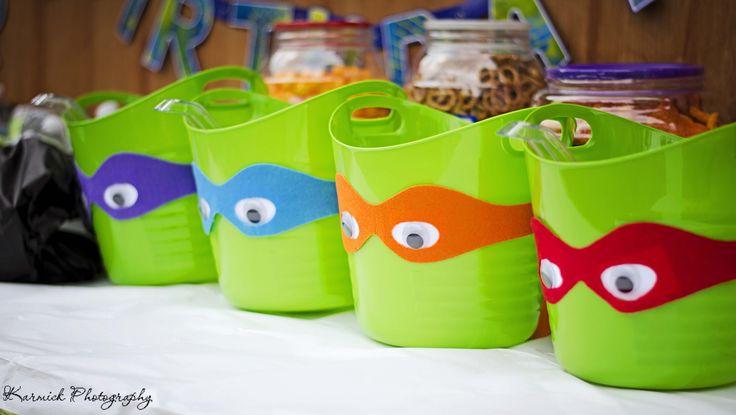 Dollar Tree Green buckets given a Ninja makeover