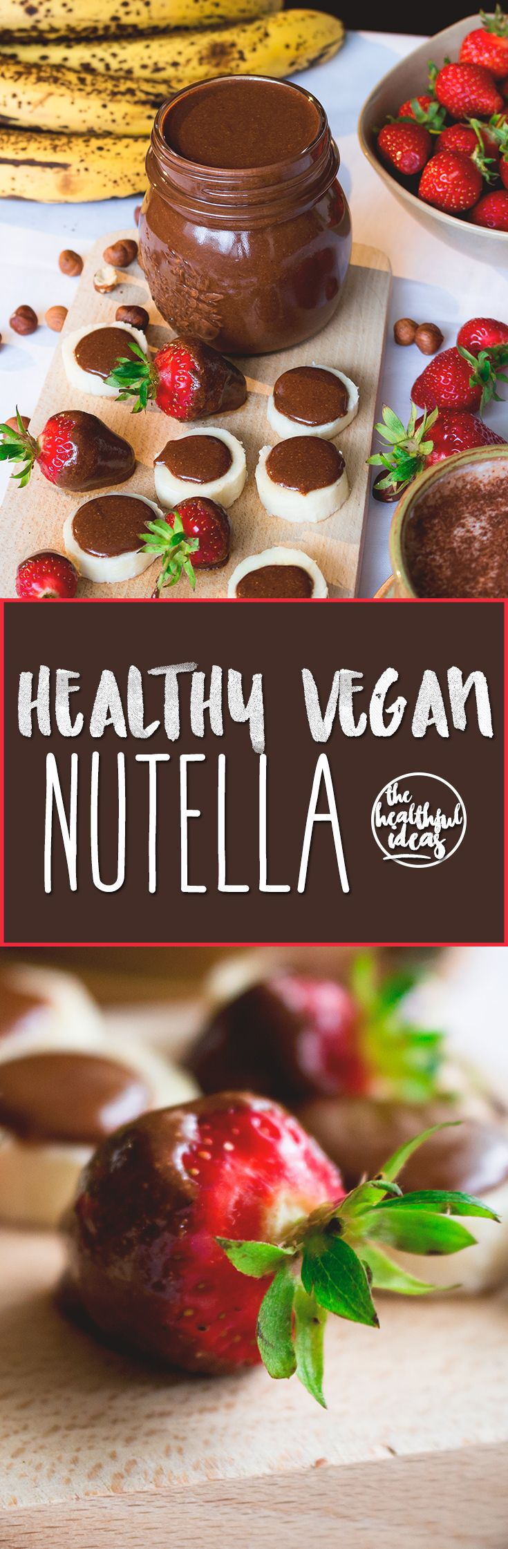 Healthy Nutella - I love this recipe! Only roasted hazelnuts, maple sugar, sea salt, and cacao powder! Really easy to make and super delicious. You'll never eat the store-bought kind again!   thehealthfulideas.com