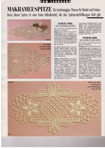 Romanian Point Lace crochet course from the January 1990 edition of Anna Burda needlecrafts magazine