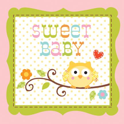 "Happi Tree Napkin Baby Girl (includes 16 pcs each measuring 10"" by 10"", when unfolded, in a pack)"