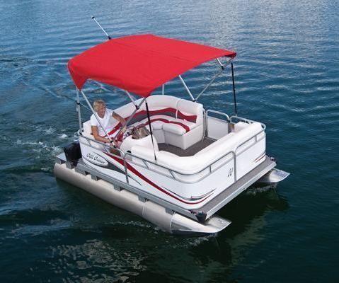 13' small pontoon boat powered by an electric motor w/ power tilt.  For questions please call Ahlstrand Marine @ 847-949-8899