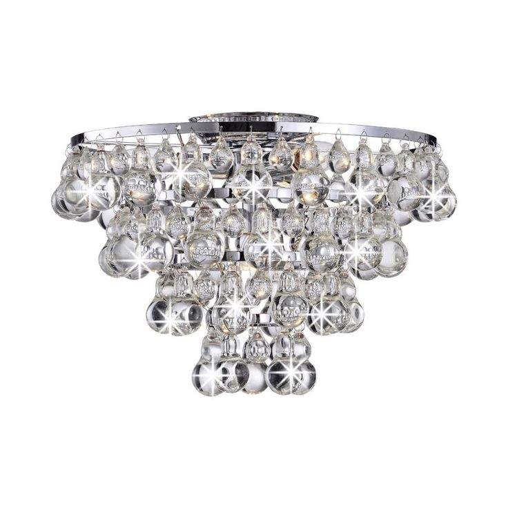 Crystal Chandelier Ceiling Fan Light Kit
