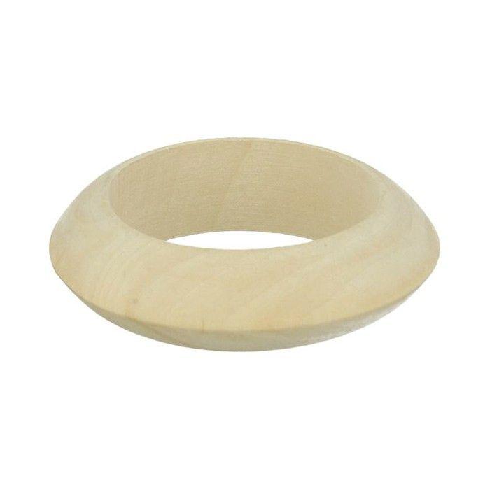 2 bracelets en bois brut à customiser : peinture, collage, ruban adhésif, pyrogravure, embossage, pour leur apporter une touche personnelle - 6,8 cm