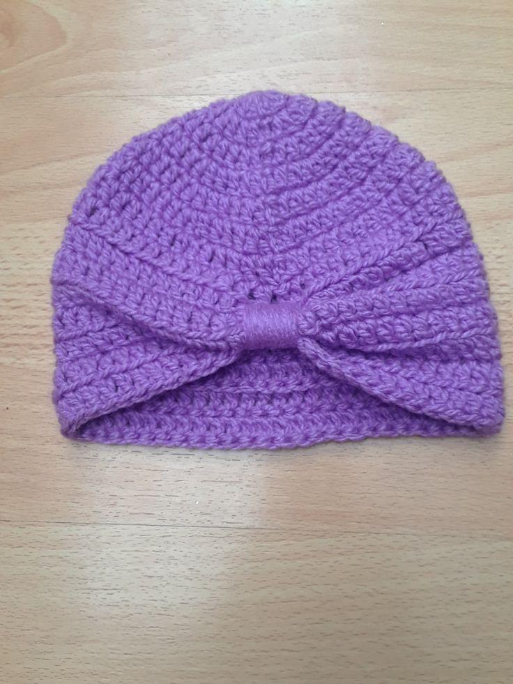 Gorro turbante para bebe #AnyelikoCreaciones #crochet