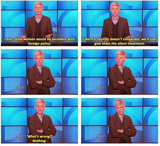 LOVE ELLEN. By far the best talk show host on TV