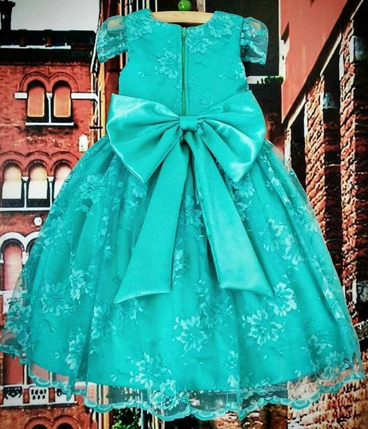 Vestido de festa infantil Renda Tiffany Por Ateliê Mirian Rosa