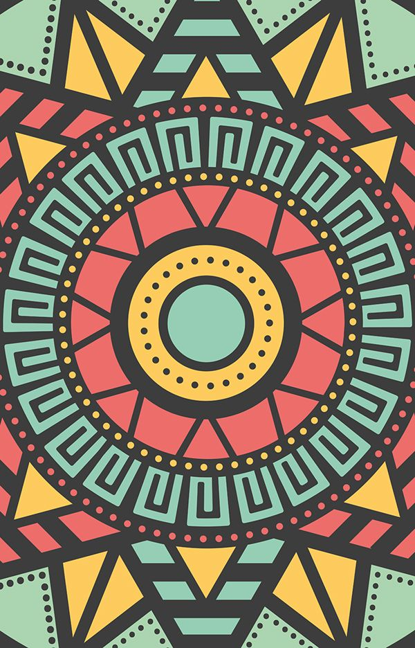 Aztec Pattern on Behance. This is the my most popular pin. Many people are using this as reference. FYI. It's a good one though so I can see why.