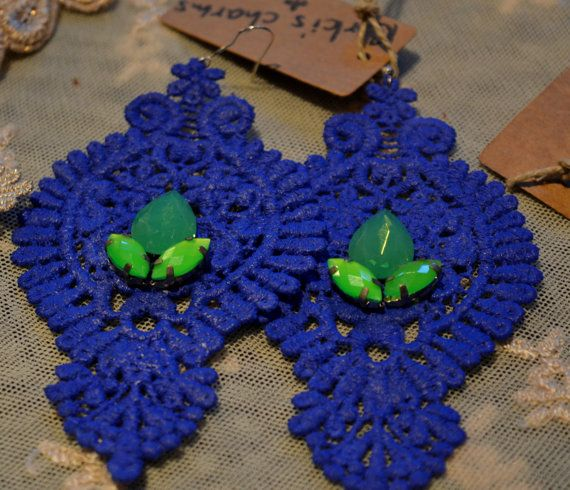 Lace earrings by KirkisCharms on Etsy