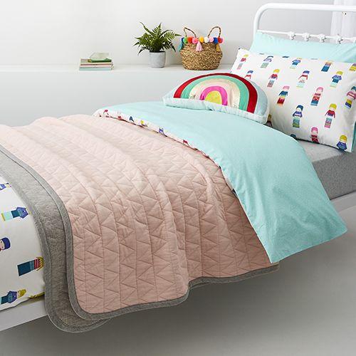 Logan Jersey Blanket Pink