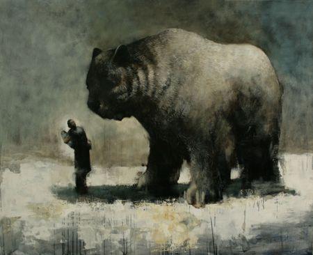 Visual artist Samuli Heimonen Gift. Acrylic and oil on canvas. 140cm x 160cm 2010