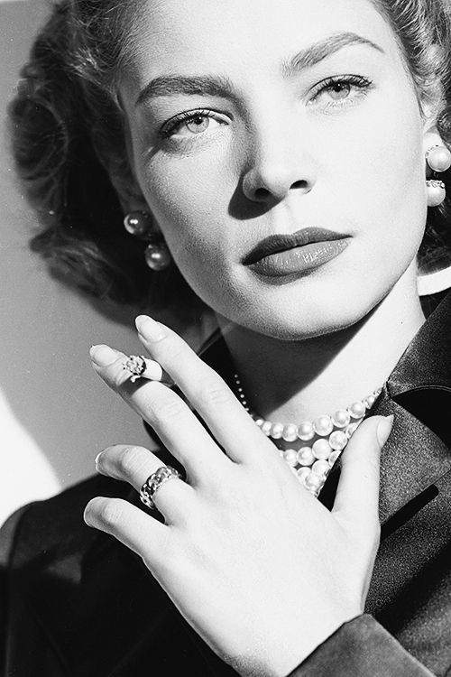 Lauren Bacall in a promotional photo for Young Man with a Horn (1950)