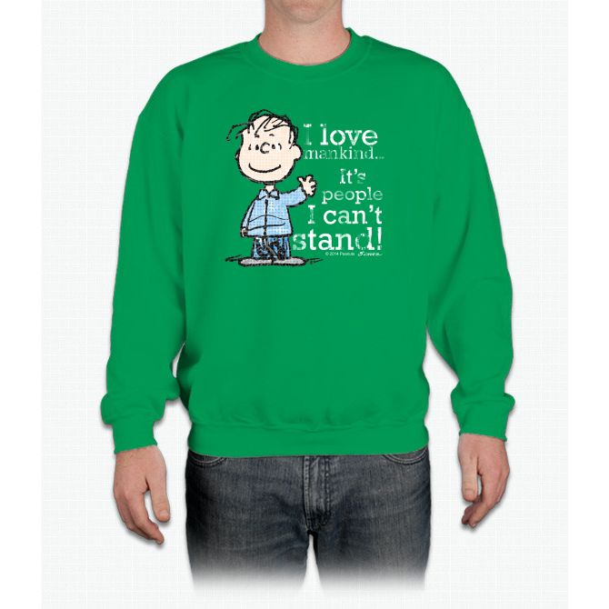 The Peanuts Gang: Linus Charlie Brown Crewneck Sweatshirt