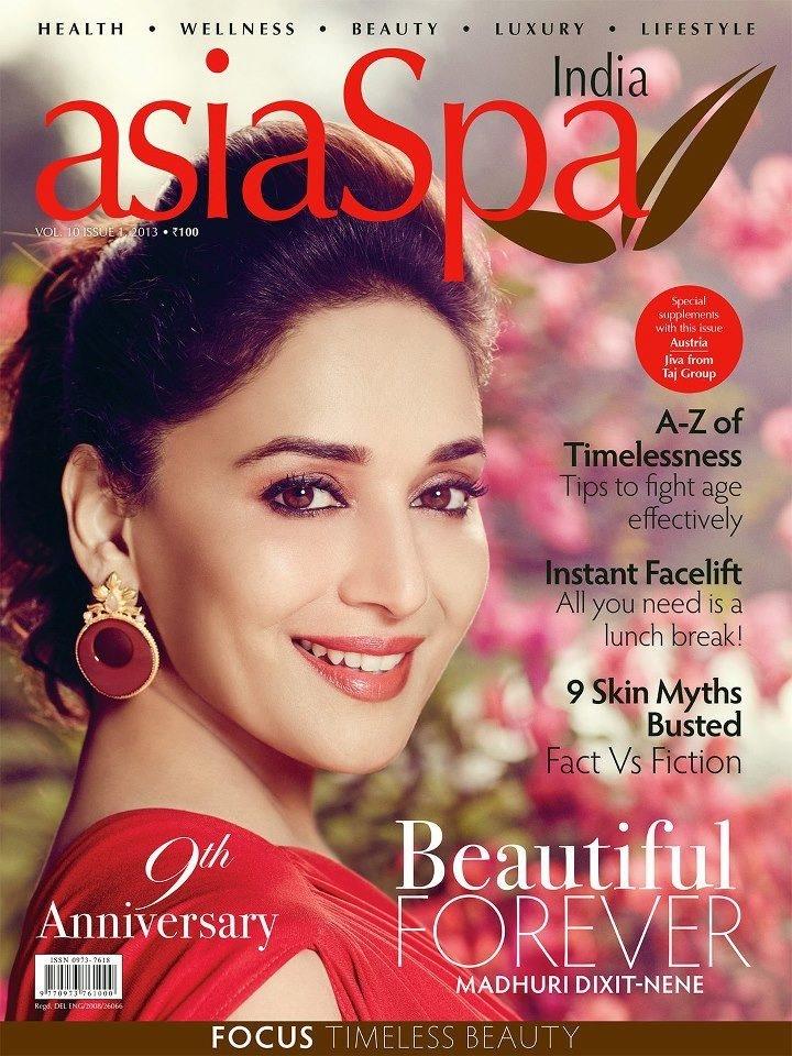 Madhuri Dixit's AsiaSpa Magazine Scans - April 2013.