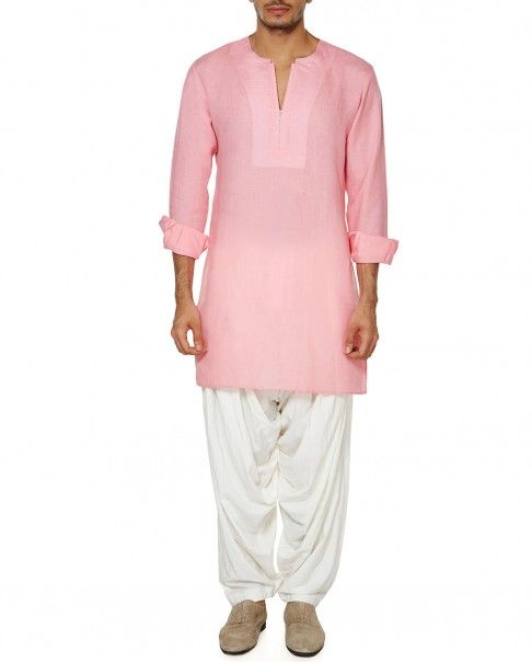 Blush Pink Full Sleeves Kurta