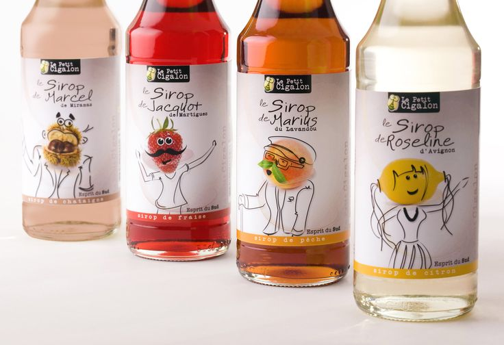 Gamme de packaging pour des bouteilles de sirop