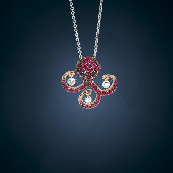 octopus with diamonds